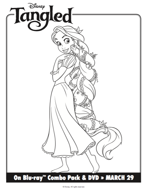 Free Printable Tangled Rapunzel Coloring Pages