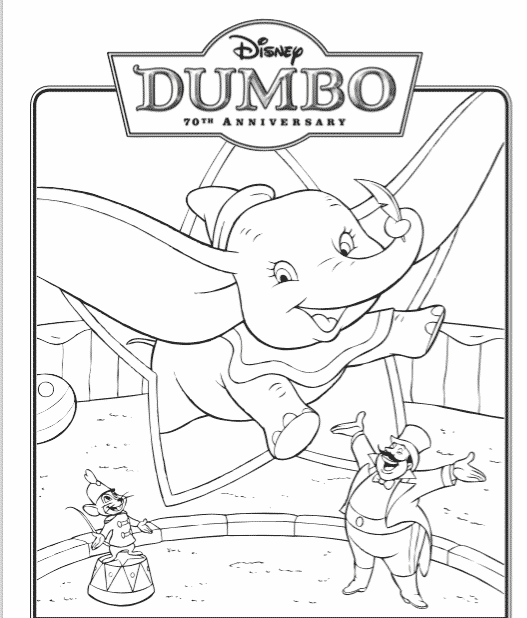 FREE DUMBO Printable Coloring Pages and Activity Sheets