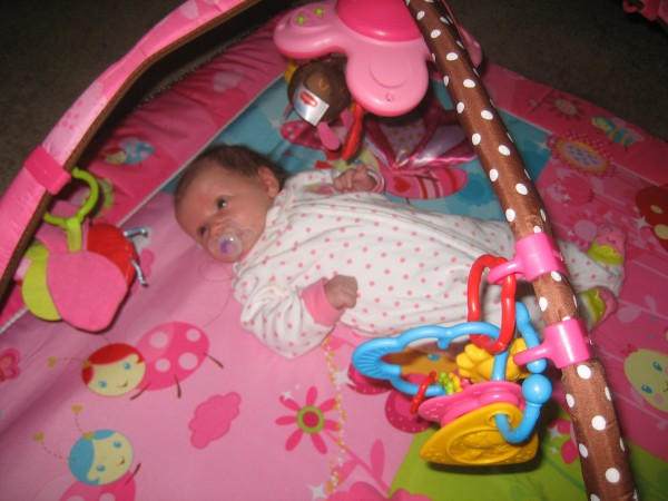 Baby Sophia enjoying the Tiny Princess Gymini Move 'n Play