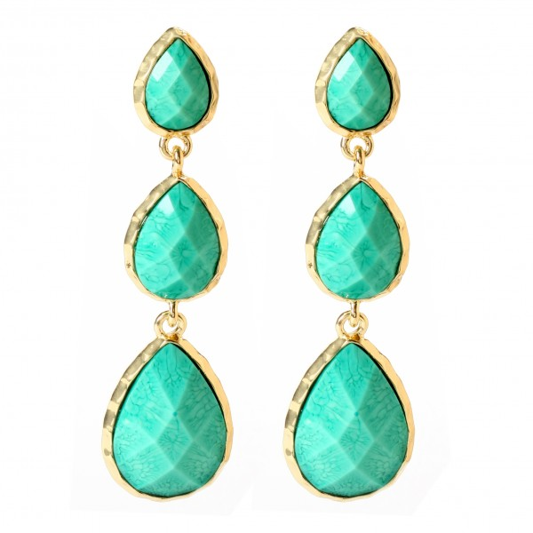 Amrita Singh East Hampton Earrings QVC Super Saturday Price: $50.00 Available in Turquoise, Blue Lapis, Evergreen, Jet Black, Ruby, and White Jade
