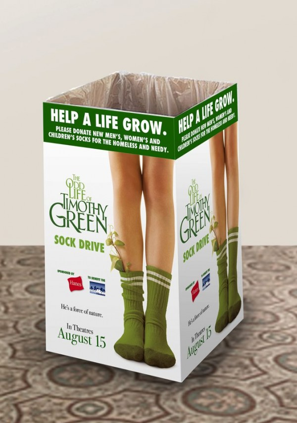 hanes disney timothy green sock drive