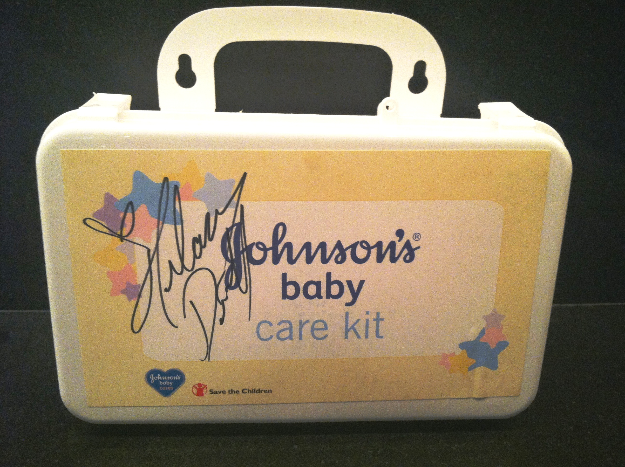 Baby Gift Basket Kit : Hilary duff signed johnson s? baby care kit and gift