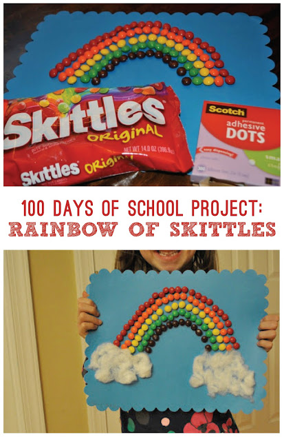 100 Days of School Project Rainbow of Skittles