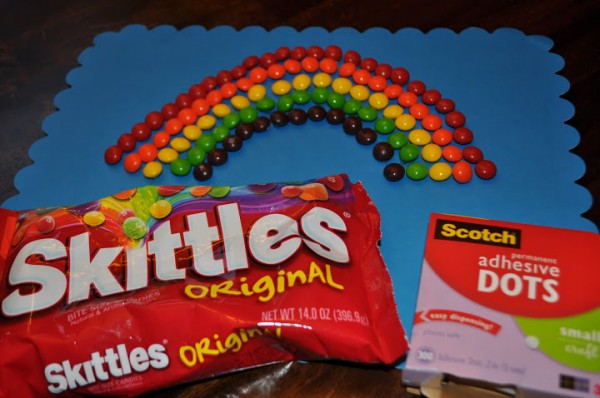 100 Days of School Project: Rainbow of Skittles