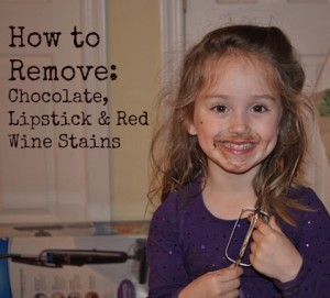 How to remove chocolate red wine or lipstick stains How to get rid of red lipstick stain