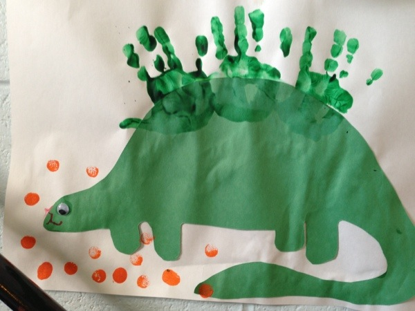 Hand Print Dinosaur Craft