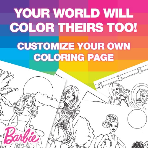Free Barbie Printable Coloring Pages 2017