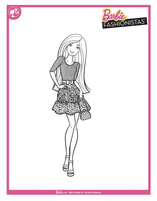 Free Barbie Printable Coloring Pages - Classy Mommy