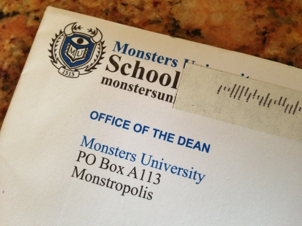 Best Mail Day: Monsters University Enrollment Info & Alumni Newsletter #MonstersUEvent - Classy Mommy
