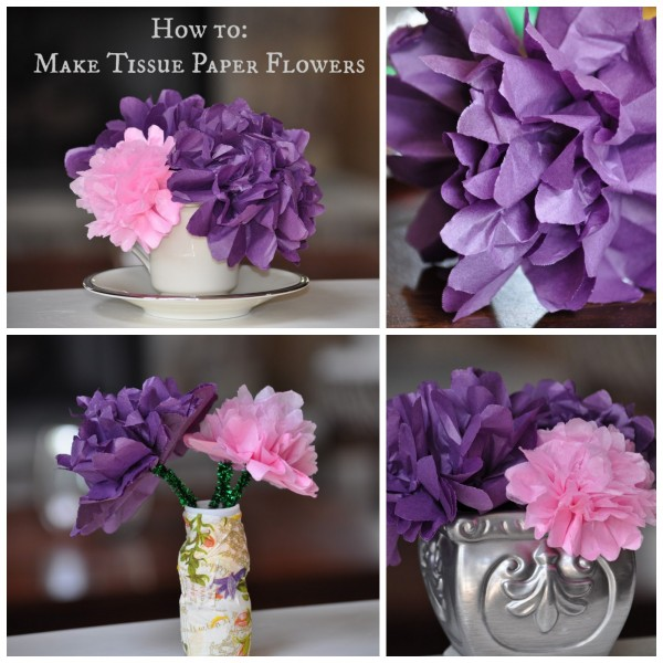 Spring craft how to make tissue paper flowers classy mommy 1 grab a stack of tissue paper mightylinksfo