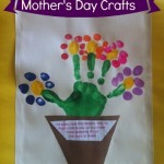 Mother's Day Handprint Craft - Thumbprint & Handprint flowers via @ClassyMommy
