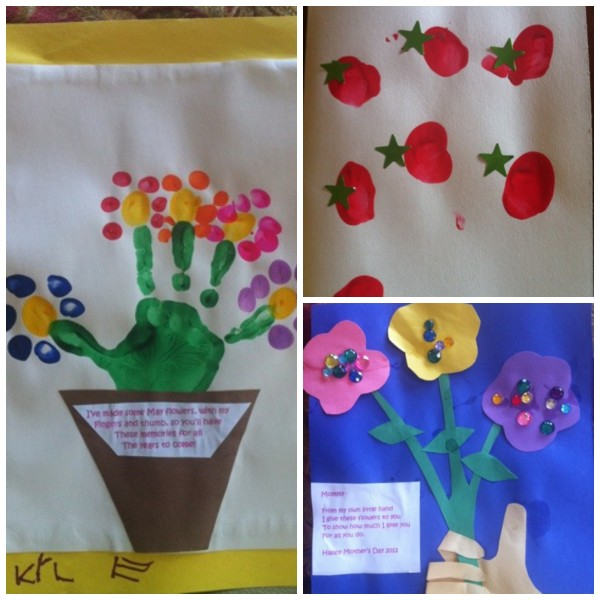 Mother 39 s day handprint and fingerprint craft ideas for Mothers day painting crafts