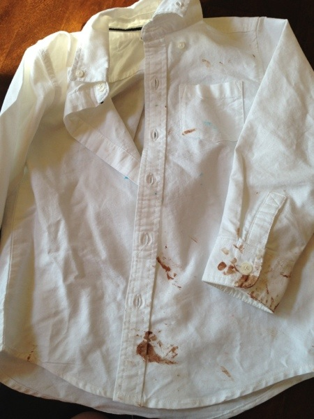 how to clean a white shirt without bleach