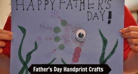 Father's Day Fish handprint Crafts