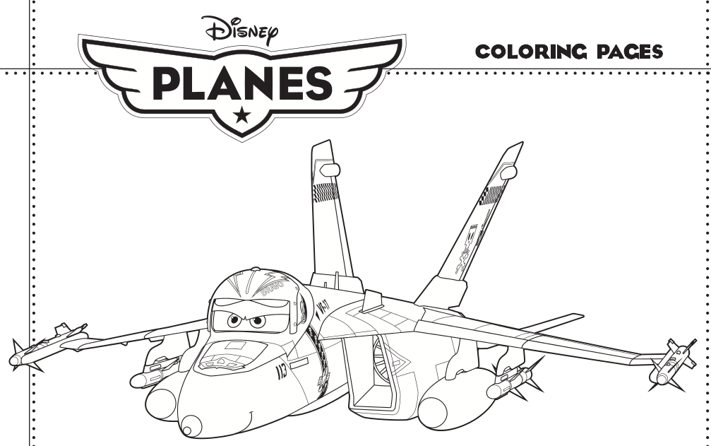 Free Disney Planes Printable Coloring