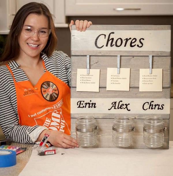 Home Depot Chore Chart