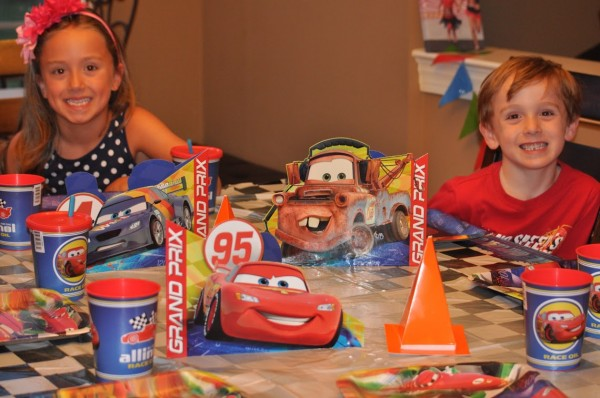 Cars Party Table Setting