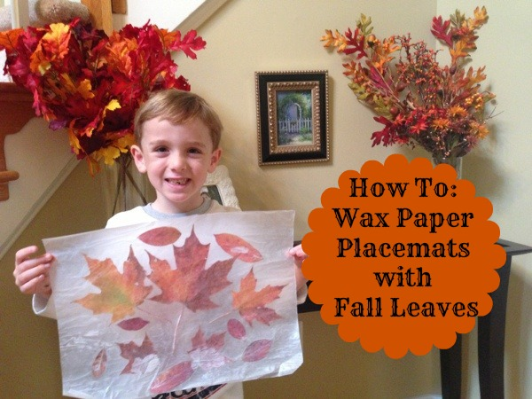 Kid Crafts With Wax Paper