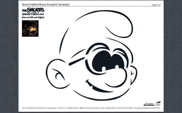 Smurfs Pumpkin Carving Template