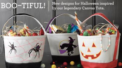 lands end halloween tote