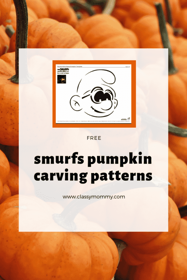 Free Pumpkin Carving Patterns for the Smurfs