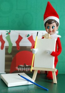 Elf on the Shelf Canvas and Easel Set