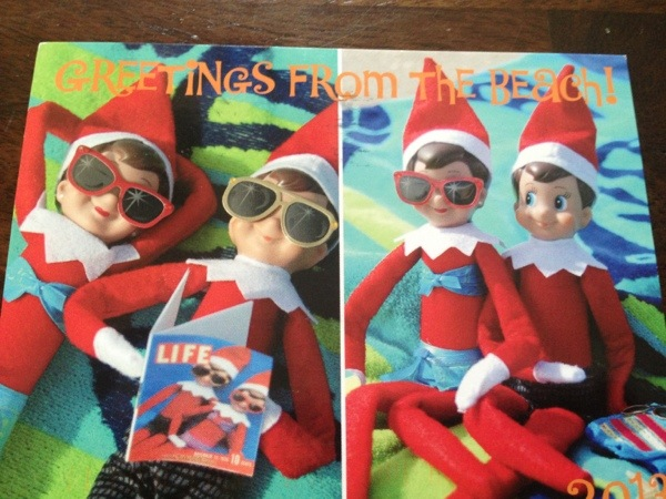 Elf on the Shelf Postcard