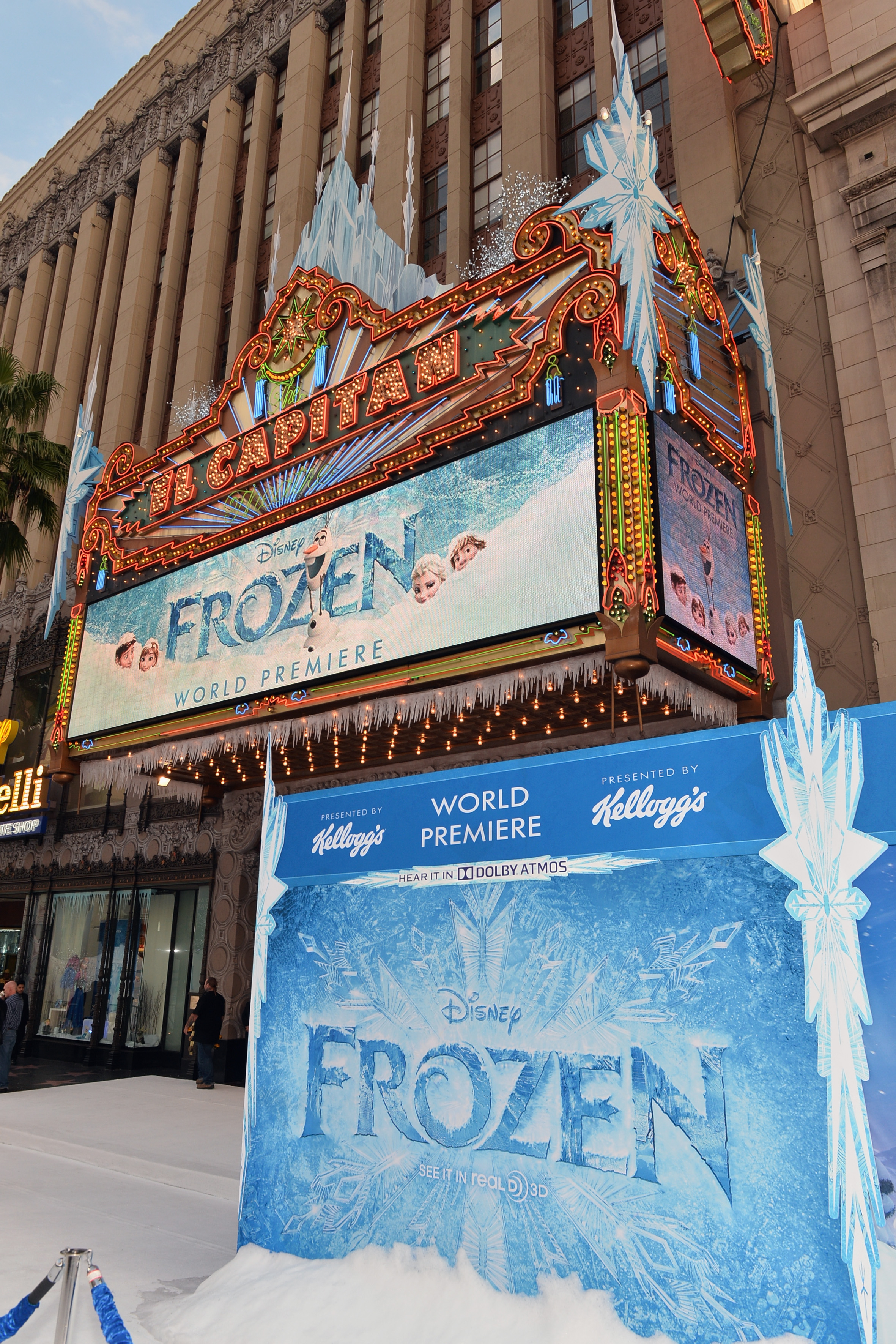 Disney Frozen Premiere At El Capitan Theater