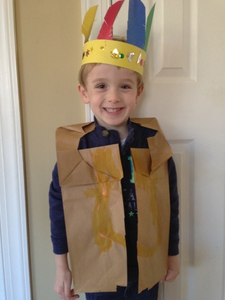 Homemade Paper Bag Indian Vest