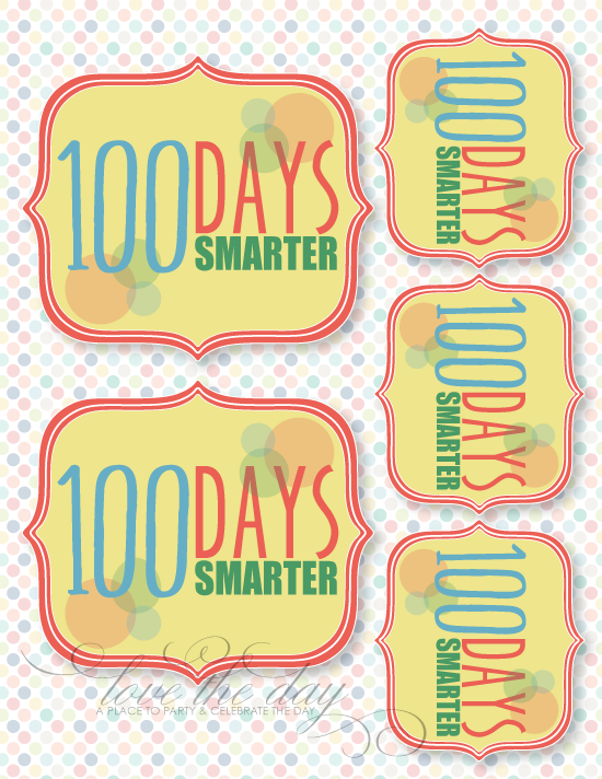 Exhilarating image with regard to 100 days of school printable