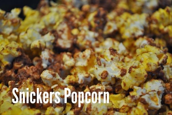 Snickers Popcorn Recipe gluten free