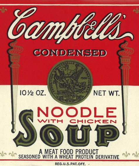 Campbell's Condensed Chicken Noodle Soup historic image