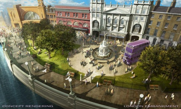Diagon Alley London Embankment Scenes