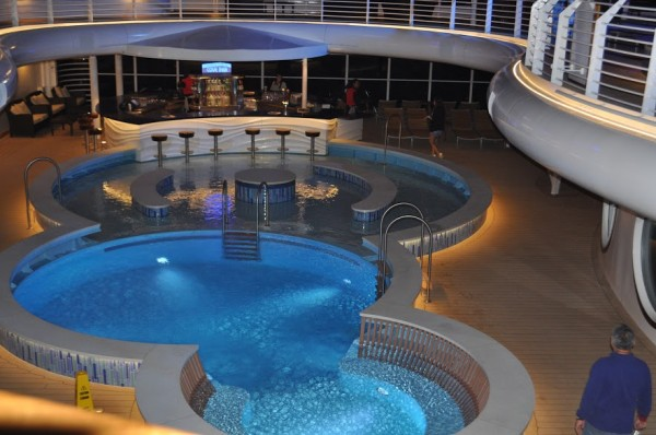 Disney Cruise Pool at Night