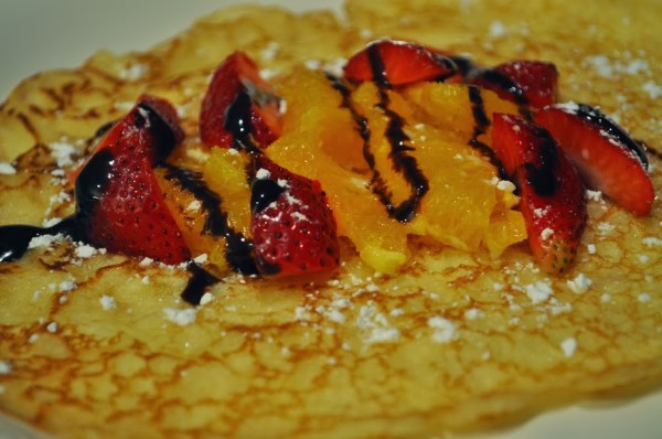 Drizzle Chocolate on Crepes