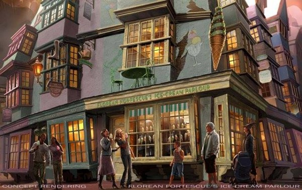 Florean Fortescue's Ice Cream Parlour Diagon Alley