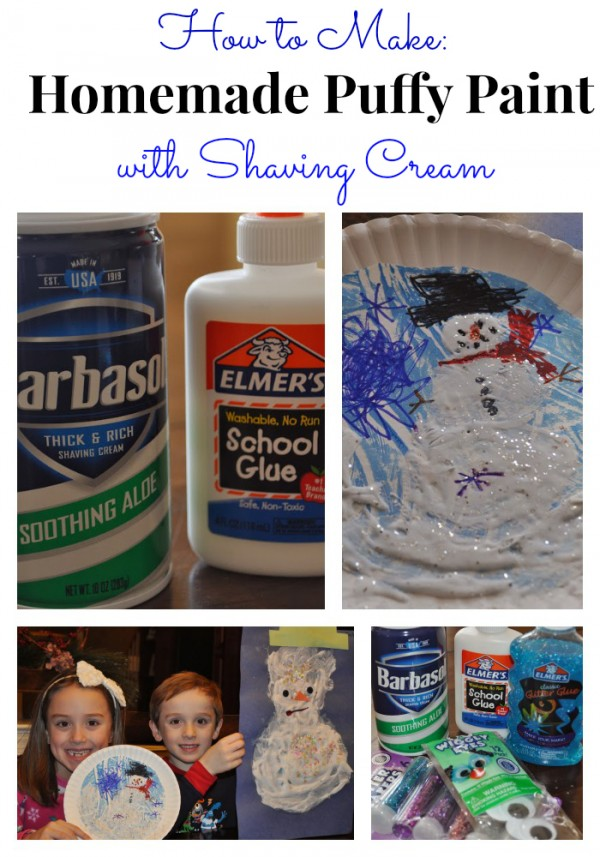 How to Make Homemade Puffy Paint with Shaving Cream and Glue