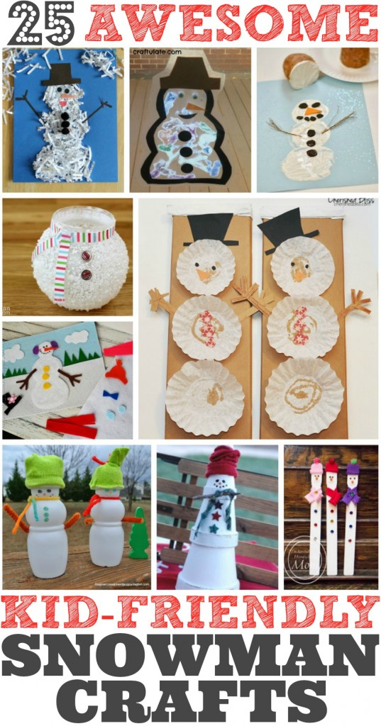 25 Easy Snowman Crafts for Kids