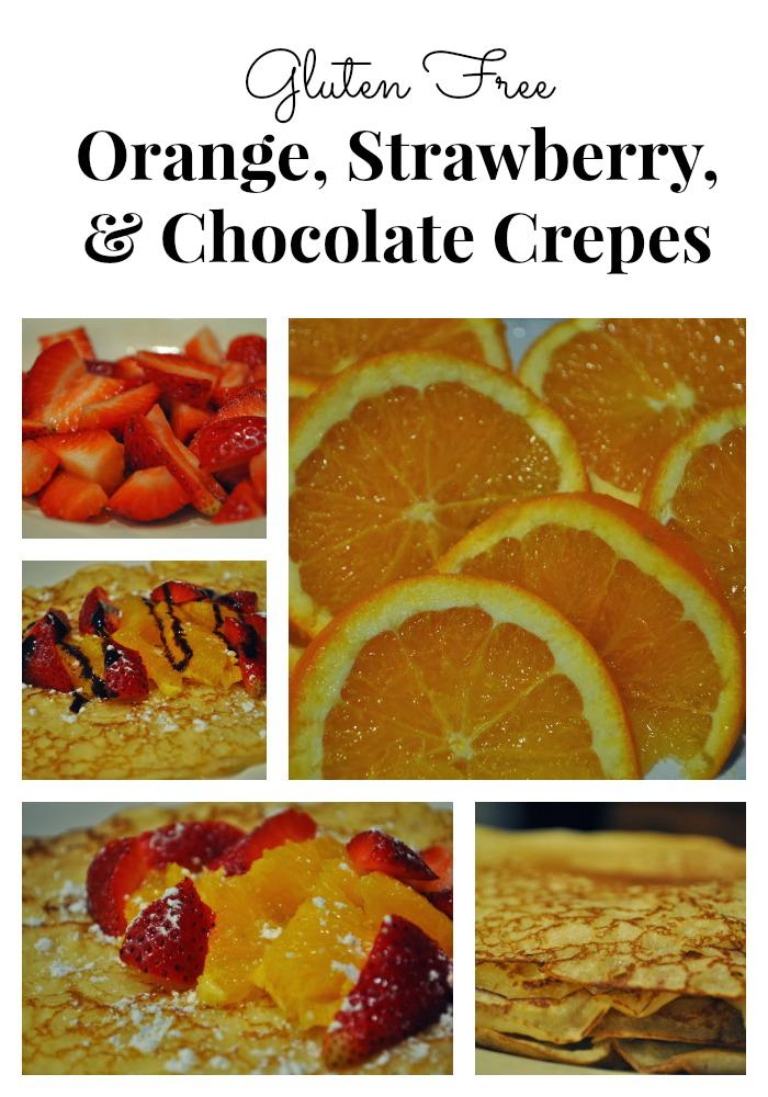 Navel Orange Chocolate Strawberry Crepes