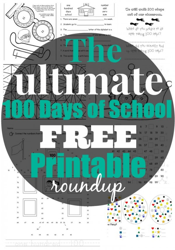 The Best 100 Days of School FREE Printable Activities Worksheets