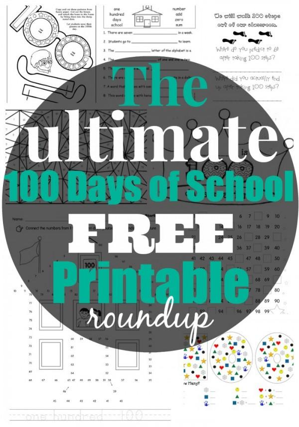 The Best 100 Days of School FREE Printable Activities Worksheets