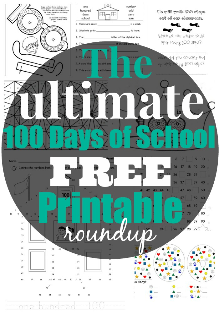 Bewitching image within 100 days of school printable