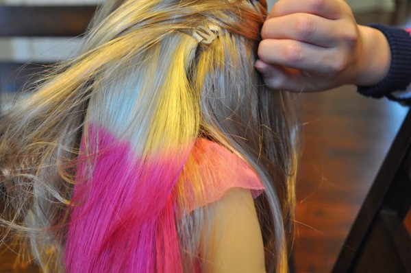How To American Girl Isabelle Pink Hair Highlights