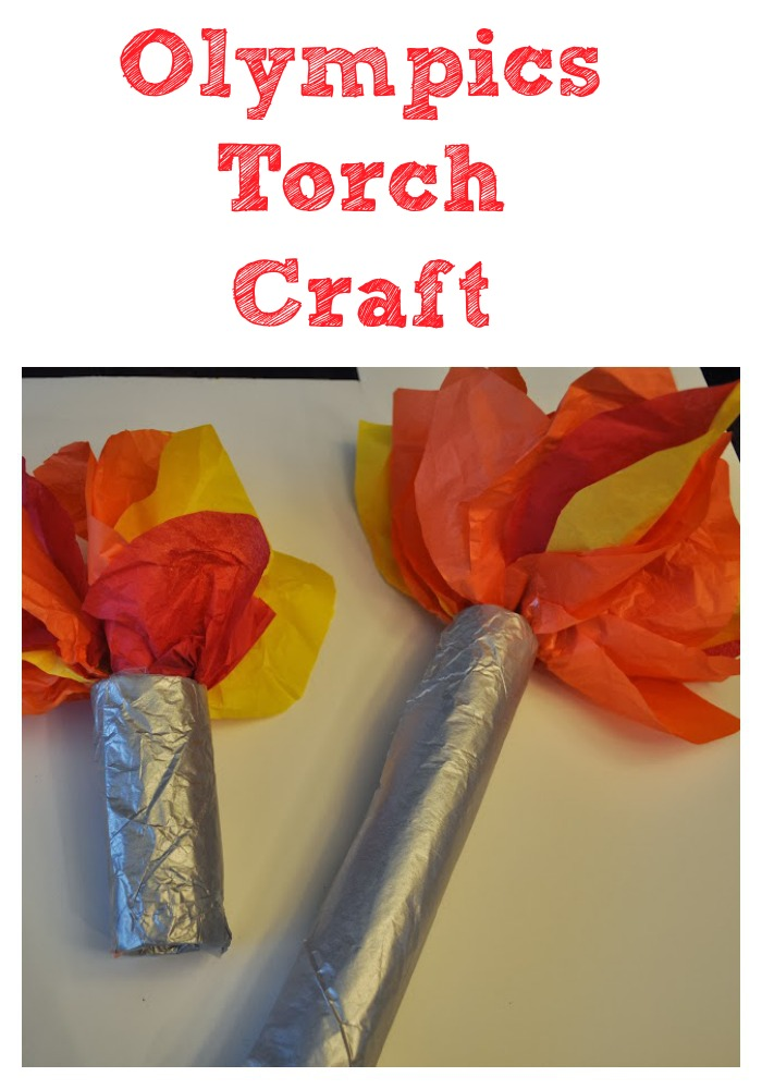 Olympics Torch Craft For Kids