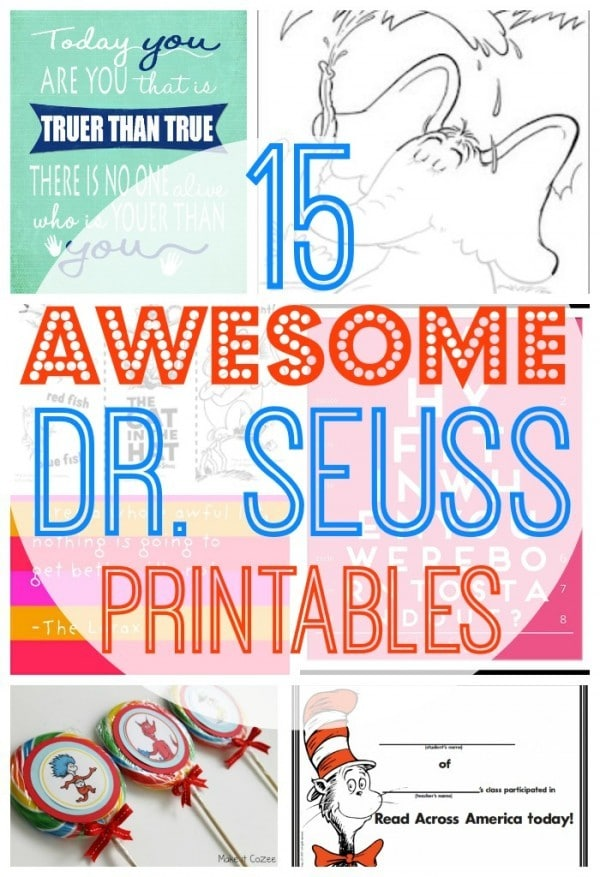 15 Awesome Free Dr Seuss Printables Coloring Pages Cupcake