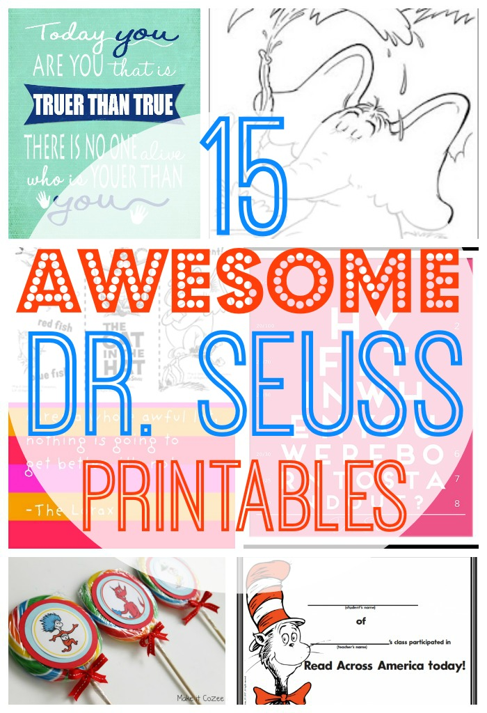 15 awesome free dr. seuss printables - Dr Seuss Printable Coloring Pages