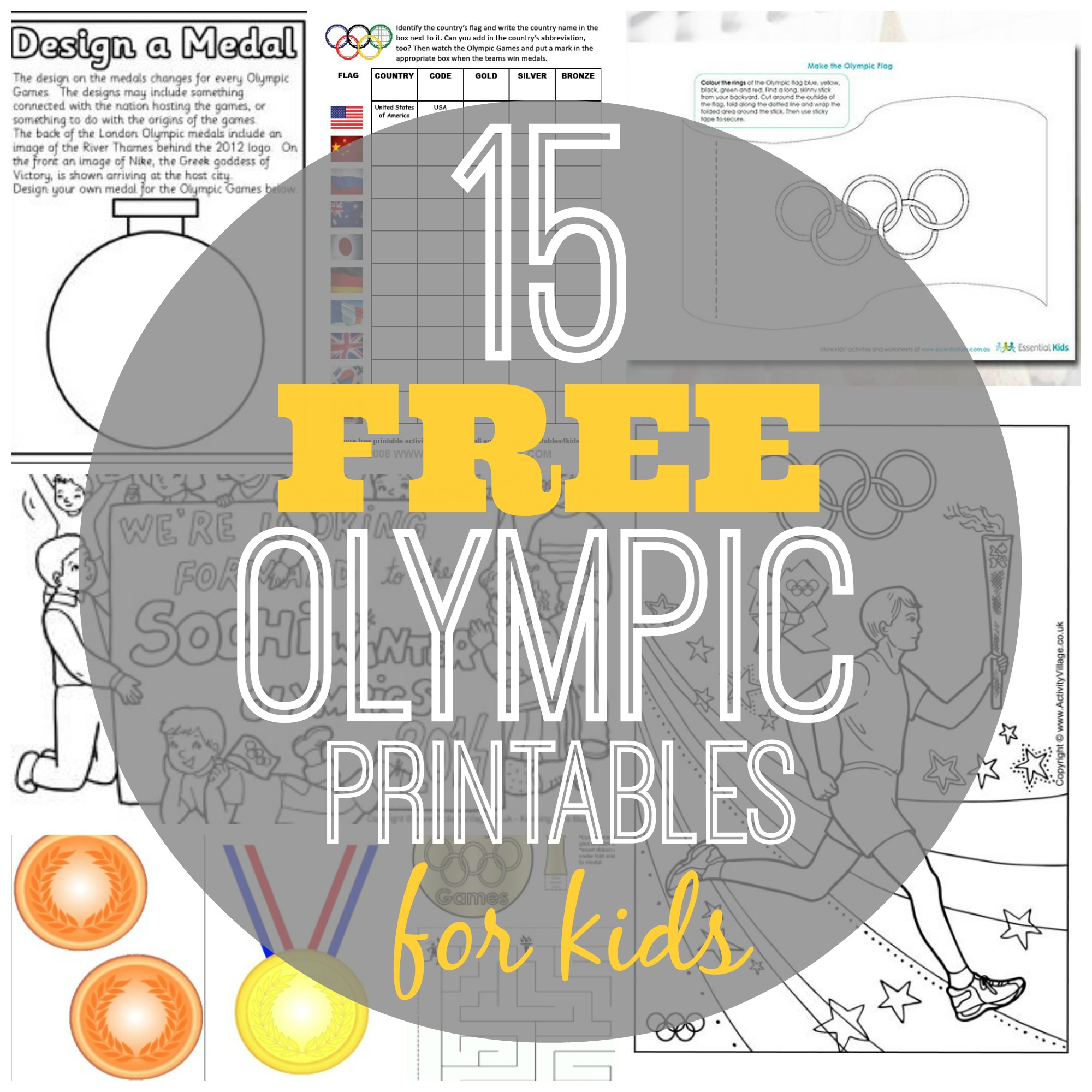 graphic about Printable Olympic Schedule identified as 15 Totally free Olympic Printables for Young children