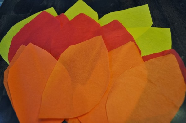 Olympic Torch Tissue Paper Flames