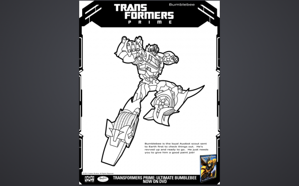 Free Transformers Coloring Pages bumblebee