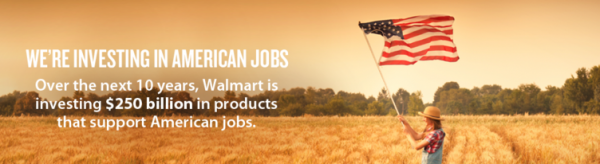 Walmart American Made Job 250 million